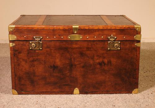 English Travel Chest in Leather - Early 20th Century (1 of 11)