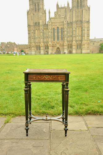 Superb French Inlaid Side Table/Work Table (1 of 18)