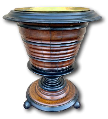 19th Century Fruitwood & Ebony Peat Bucket (1 of 6)