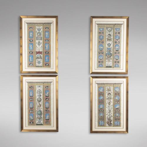 Set of Four Studies of Raphael Frescoes (1 of 6)