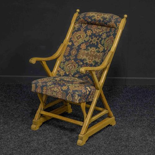 Arts & Crafts Oak Armchair (1 of 7)