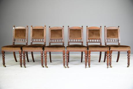 6 Victorian Walnut Dining Chairs (1 of 11)
