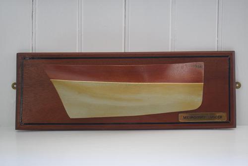 Cornish Mevagissey Lugger Wooden Half Hull Model (1 of 10)