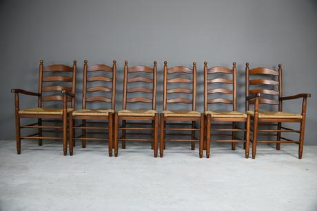 6 Ladderback Dining Chairs (1 of 11)
