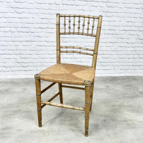 Regency Faux Bamboo Side Chair (1 of 6)