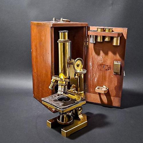 Brass Microscope by R & J Beck Ltd (1 of 7)