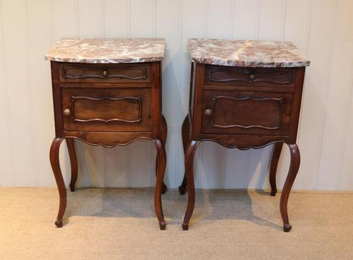 Pair Of French Walnut Bedside Cabinets (1 of 10)
