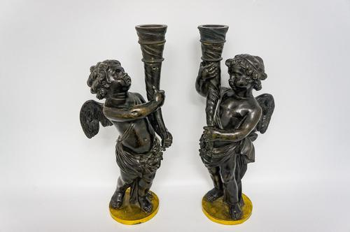 Pair of Victorian Bronze Cherubs (1 of 4)
