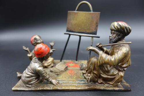 Late 19th Century Austrian Bronze of a Music Teacher with Two Pupils (1 of 5)