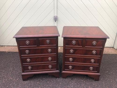 Pair of Small Mahogany Bedside Chest Drawers (1 of 11)