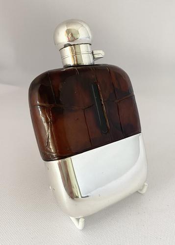 Crocodile & Silver Spirit Flask c.1920 (1 of 8)