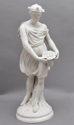 19th Century Parian Figure of a Flower Maiden (1 of 10)
