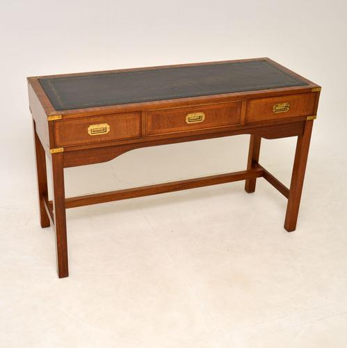 Antique Military Campaign Style Mahogany Writing Table / Desk (1 of 12)
