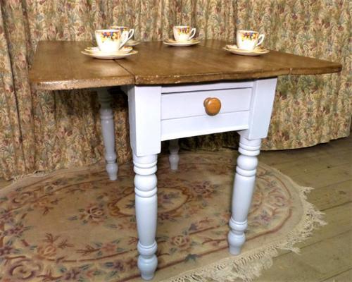 Antique Pine Folding Pembroke Kitchen Table (1 of 5)