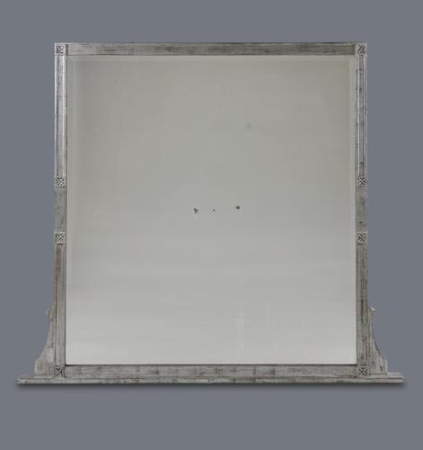 Stunning English Art Deco Silvered Overmantle Mirror (1 of 5)