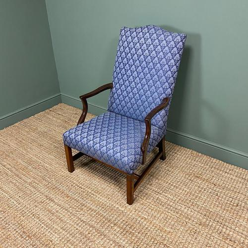 19th Century Antique Upholstered Armchair (1 of 5)