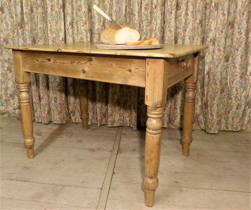Victorian Pine Kitchen Table c.1860 (1 of 8)