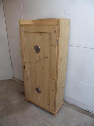 Art Deco 1 Door Pine Kitchen / Storage Cupboard to Wax / Paint (1 of 11)