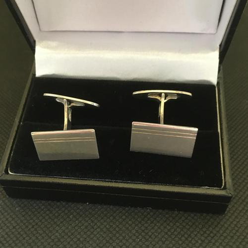 Danish Sterling Silver Cufflinks. 1950s by Firma Silver Cove (1 of 4)