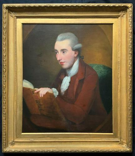 Magnificent Large Mid 18th Century Oil Portrait Painting of a Scholar Gent Reading (1 of 12)