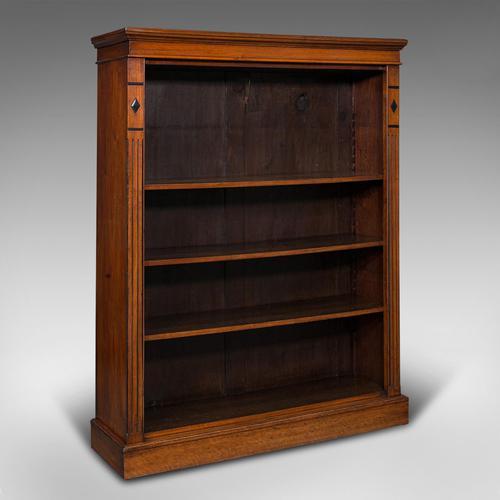 Antique Set Of Bookshelves, English, Walnut, Open Bookcase, Victorian, C.1880 (1 of 10)