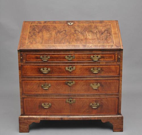 18th Century Walnut & Leather Banded Bureau (1 of 17)