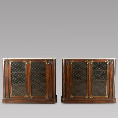 Pair of Early 19th Century Rosewood Chiffoniers (1 of 5)