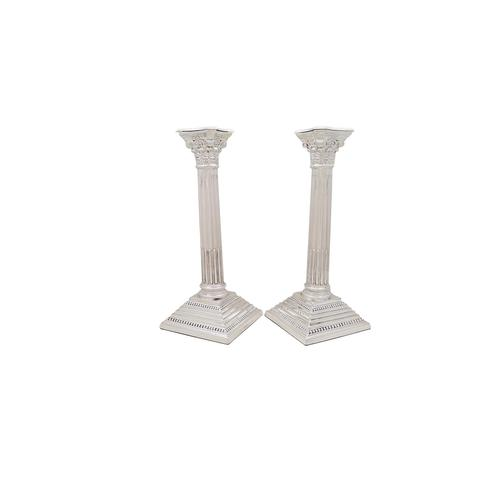 """Pair of Sterling Silver 10"""" Candlesticks 1930 (1 of 9)"""
