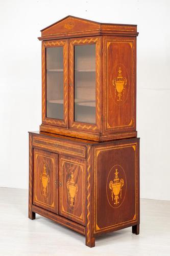 Superb Dutch Mahogany Inlaid Bookcase (1 of 9)