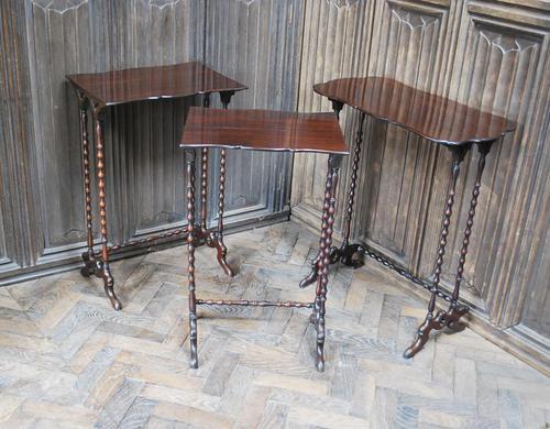 Nest of Three Bobbin Tables (1 of 8)