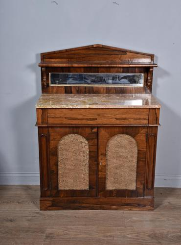 Antique Regency Rosewood Marble Top Chiffonier Side Cabinet (1 of 3)