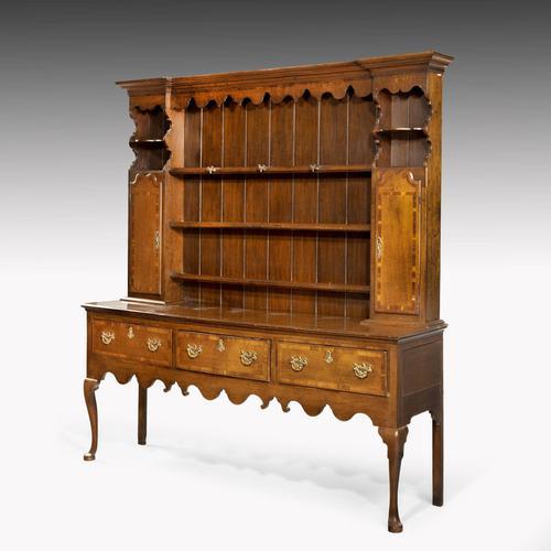 Good Mid 19th Century Oak Dresser & Rack (1 of 6)