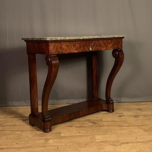 French Louis Philippe Period Mahogany Console Table (1 of 12)