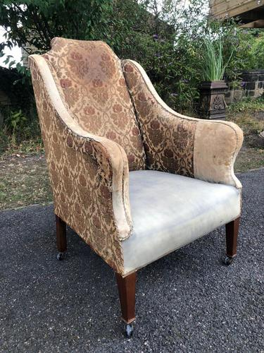 Antique English Upholstered Armchair (1 of 7)