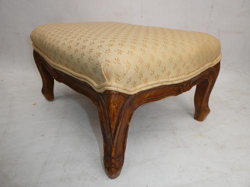 1920's Oblong Oak Footstool (1 of 5)