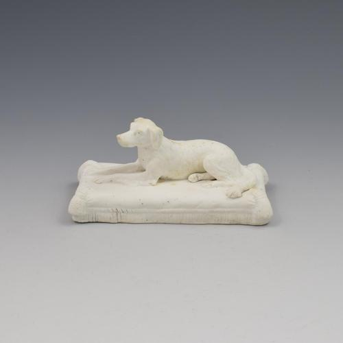 Minton Parian Biscuit Figure Of A Recumbent Setter Dog Ex. D. G. Rice Collection (1 of 13)