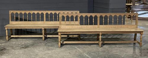 Pair of French 19th Century Dining Benches (1 of 15)