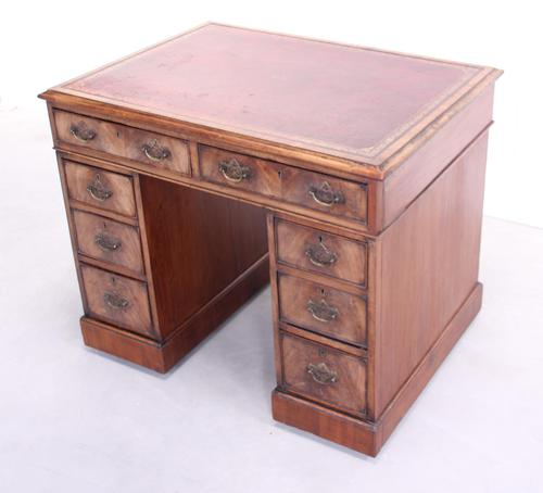 18th Century Mahogany Pedestal Writing Desk (1 of 12)
