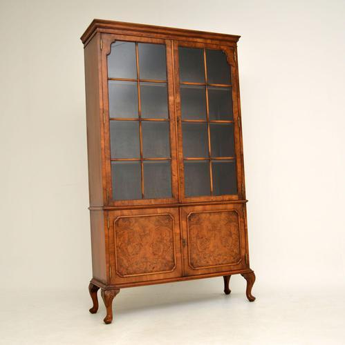 Antique Burr Walnut  Bookcase (1 of 9)