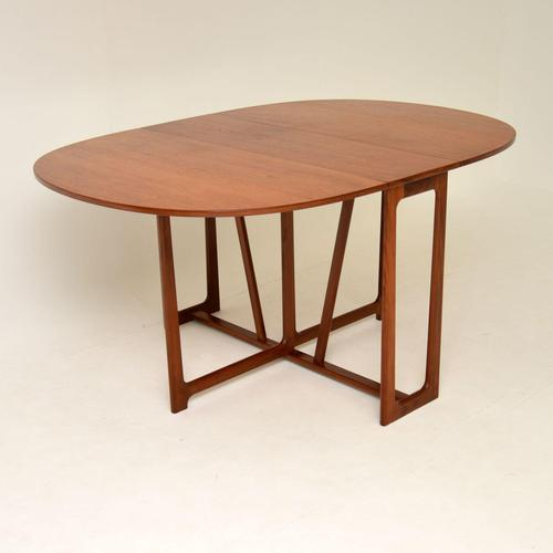 1960's Teak Vintage Drop Leaf Dining Table (1 of 11)