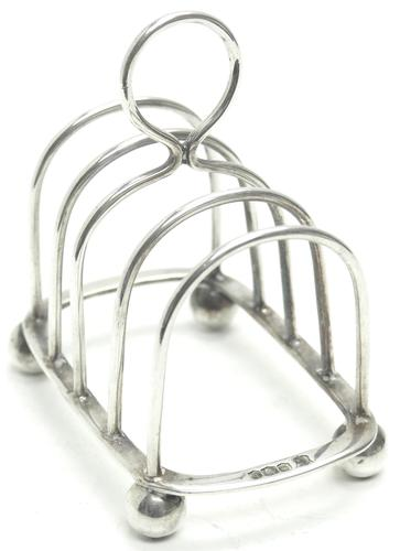 English Antique Solid Silver Toast Rack, Super Design Fresh & Clean c.1921 (1 of 4)