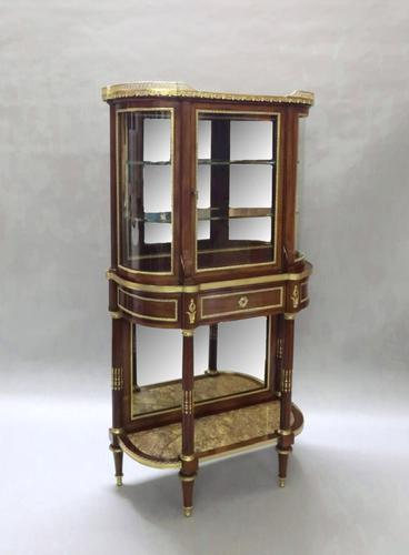 French 19th Century Mahogany Display Cabinet Attributed to Sormani (1 of 9)