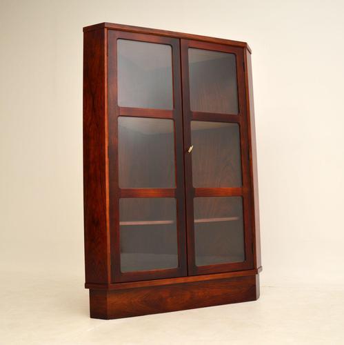 Danish Rosewood Vintage Corner Cabinet (1 of 12)