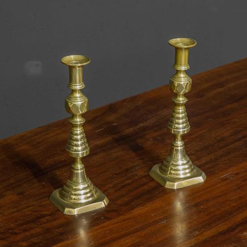 Victorian Brass Candlesticks (1 of 10)