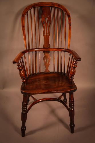 Yew Wood High Back Windsor Chair Rockley Made (1 of 9)