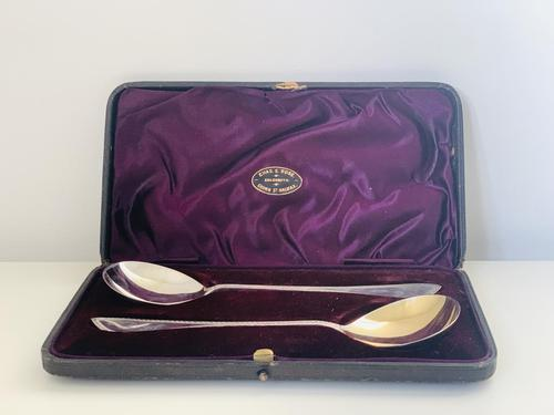 Antiques George V Silver Three- Piece Christening Set (1 of 4)