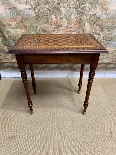 19th Century Games / Occasional Table with Inlaid Top (1 of 7)