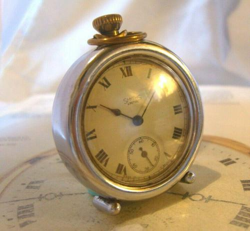 Vintage Smiths or Ingersoll Pocket Watch Case 1940s Original Chrome Bedside Case (1 of 11)
