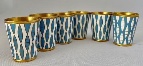 Vintage Russian Silver and Enamel Shots C1950 (1 of 5)