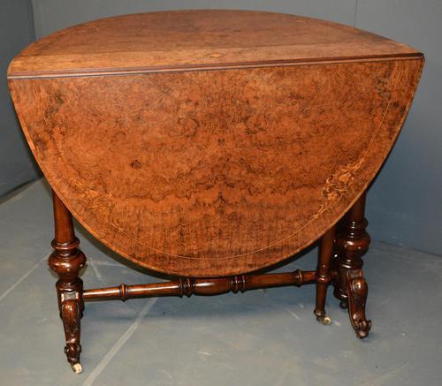 Burr Walnut Sutherland Table (1 of 11)